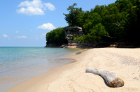 Chapel Rock and Beach at Pictured Rocks National Lakeshore