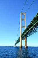 View From Below the Mackinac Bridge in Michigan
