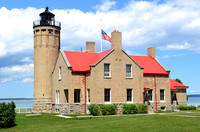Old Mackinac Point Lighthouse on Lake Huron