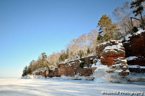 Icy Sandstone Cliffs
